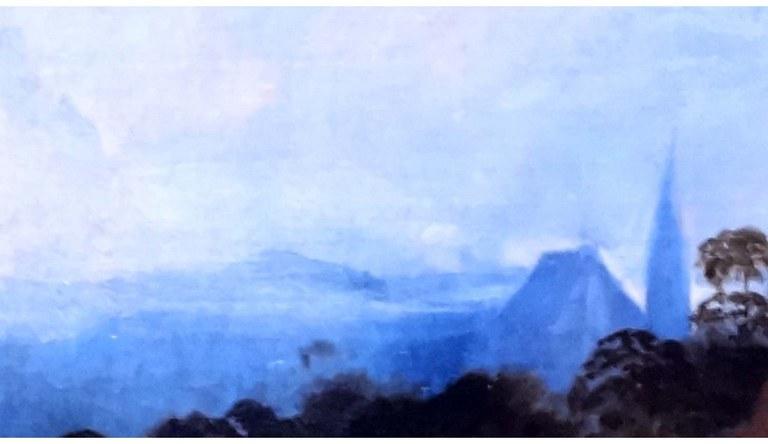 paysage église aqua